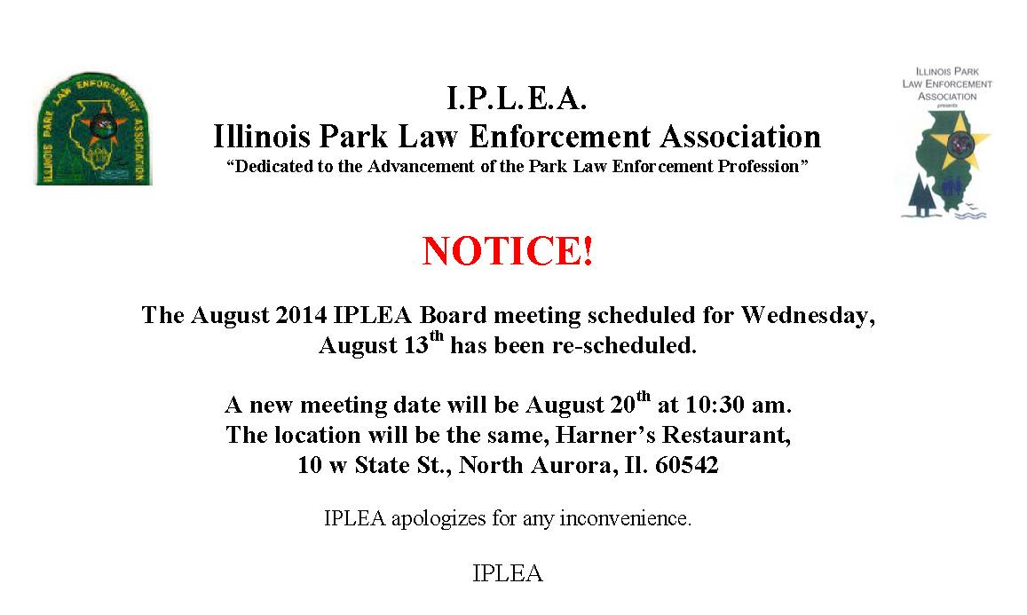 IPLEA 8-14 Mtg Change Notice1